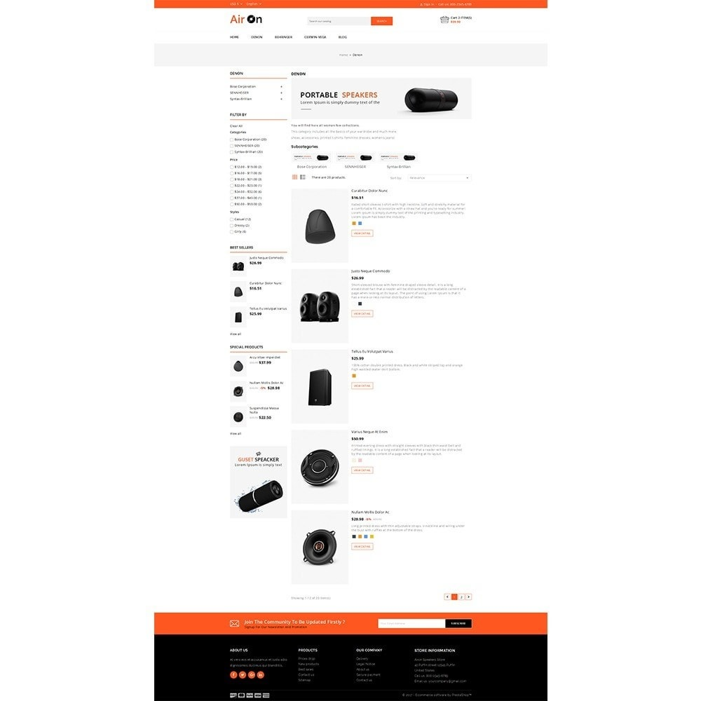 theme - Elektronika & High Tech - Airon Speakers Store - 5