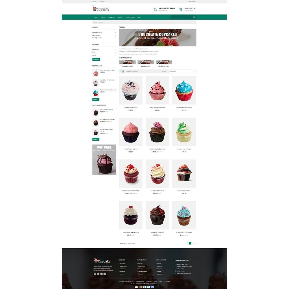 theme - Lebensmittel & Restaurants - Cupcake Cake Shop - 3