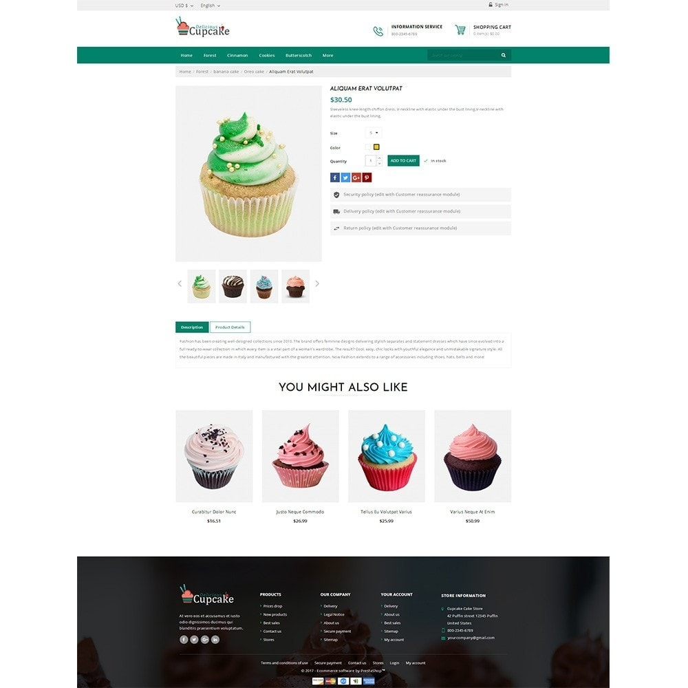 theme - Lebensmittel & Restaurants - Cupcake Cake Shop - 4