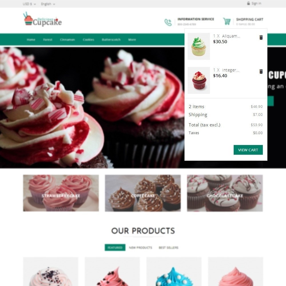 theme - Lebensmittel & Restaurants - Cupcake Cake Shop - 6