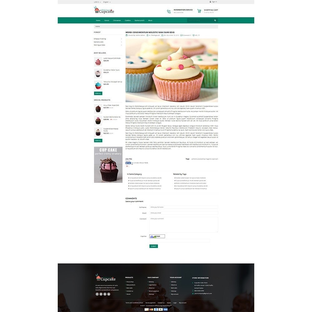 theme - Lebensmittel & Restaurants - Cupcake Cake Shop - 8