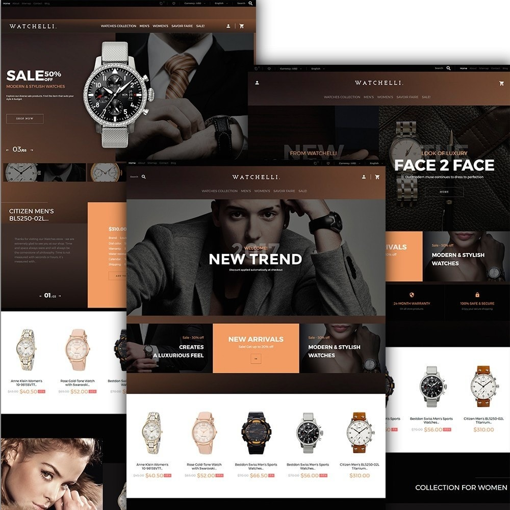 theme - Moda & Calçados - Watchelli - Luxury Watches Store - 2