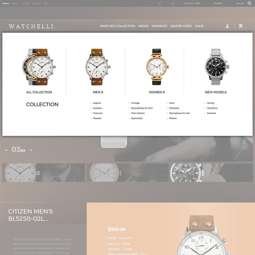 theme - Moda y Calzado - Watchelli - para Sitio de Relojes - 6