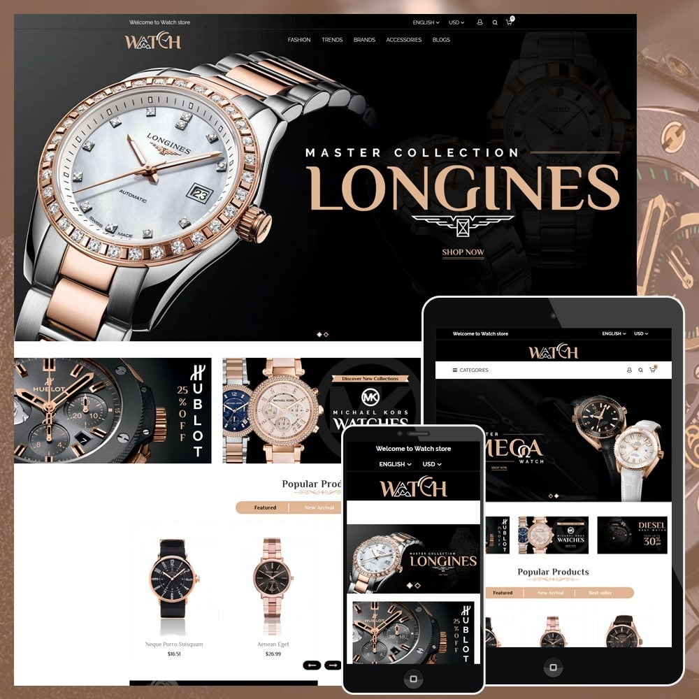 theme - Biżuteria & Akcesoria - Luxury Watch Shop - 1