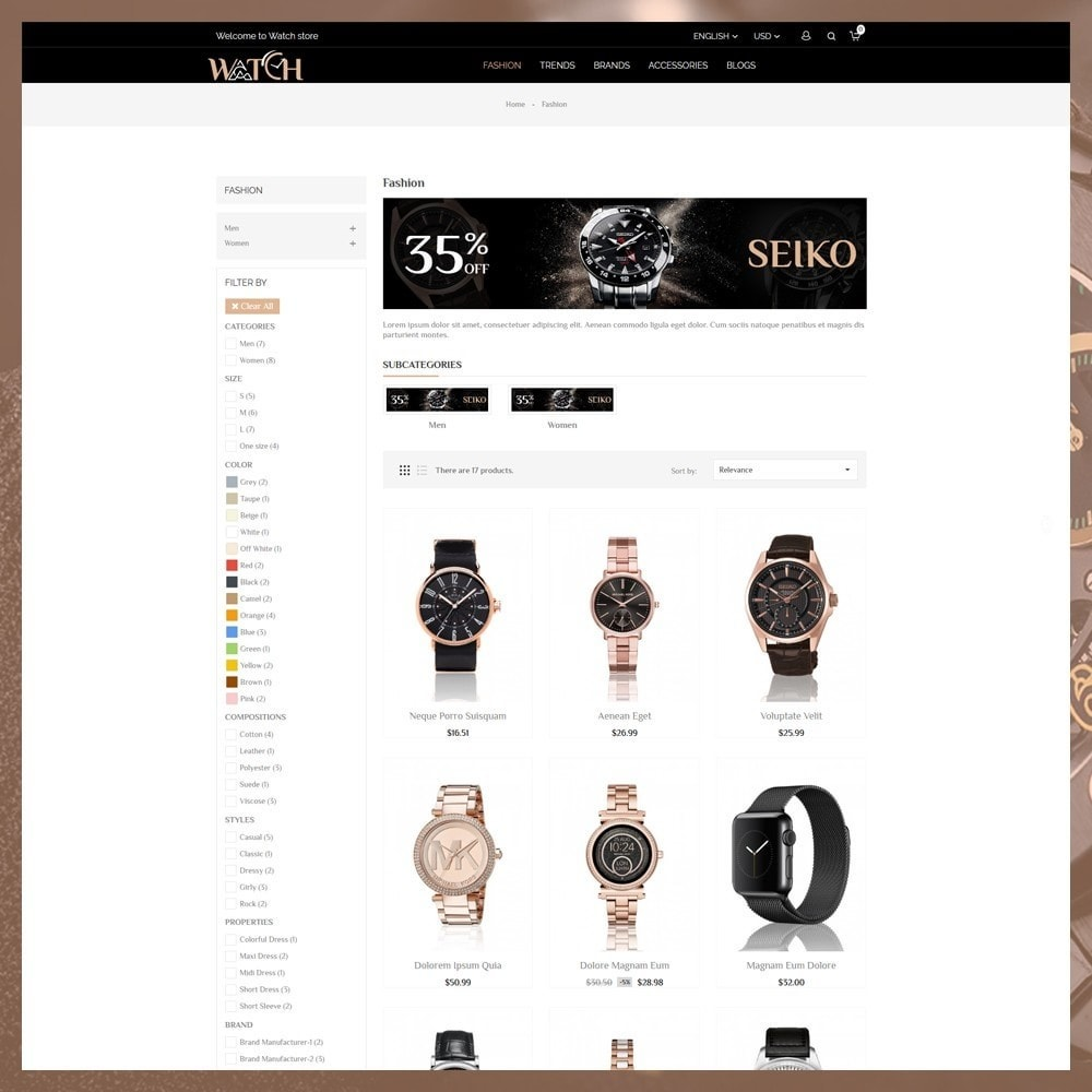 theme - Biżuteria & Akcesoria - Luxury Watch Shop - 4