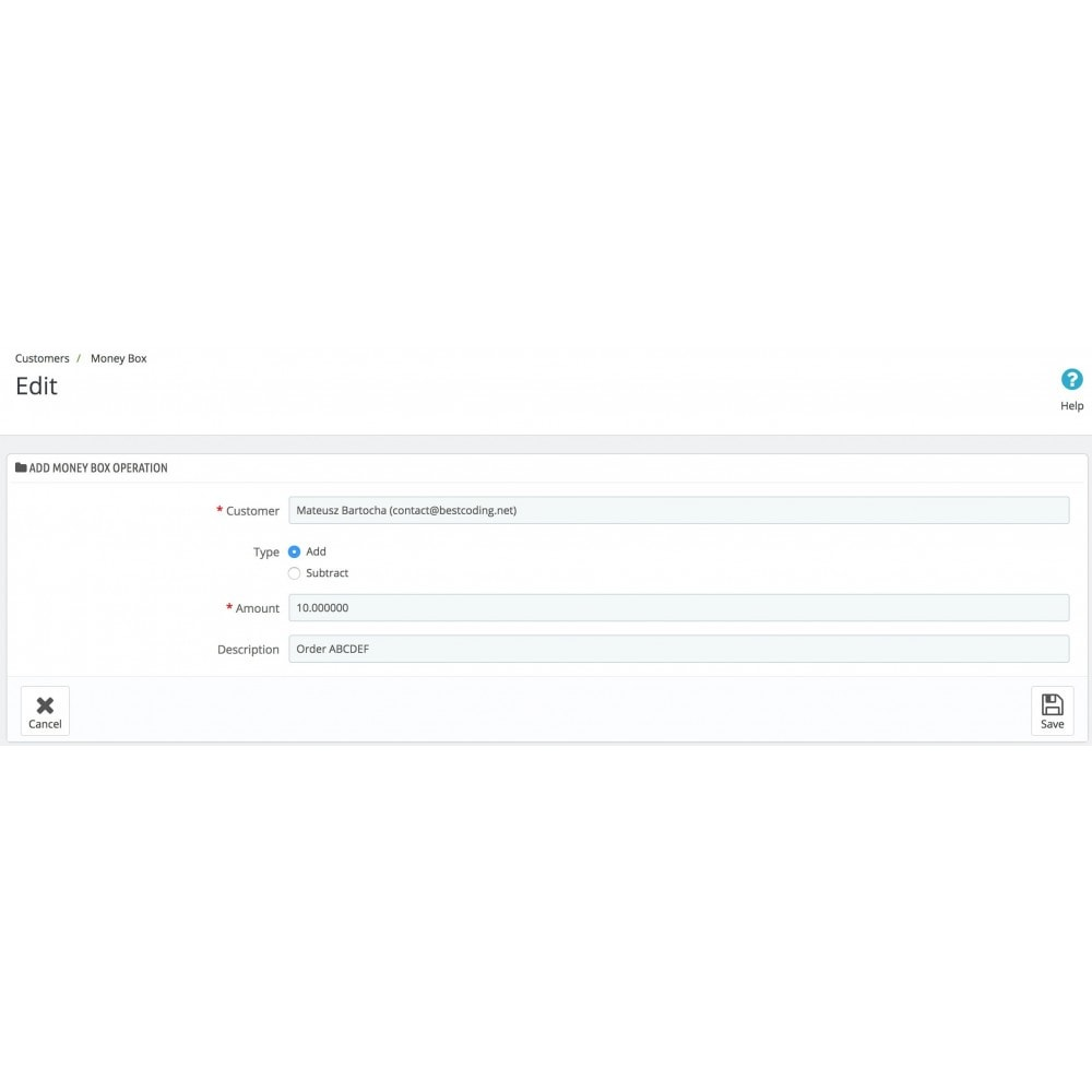 module - Programa de Fidelidad - Customer Money Box - 2