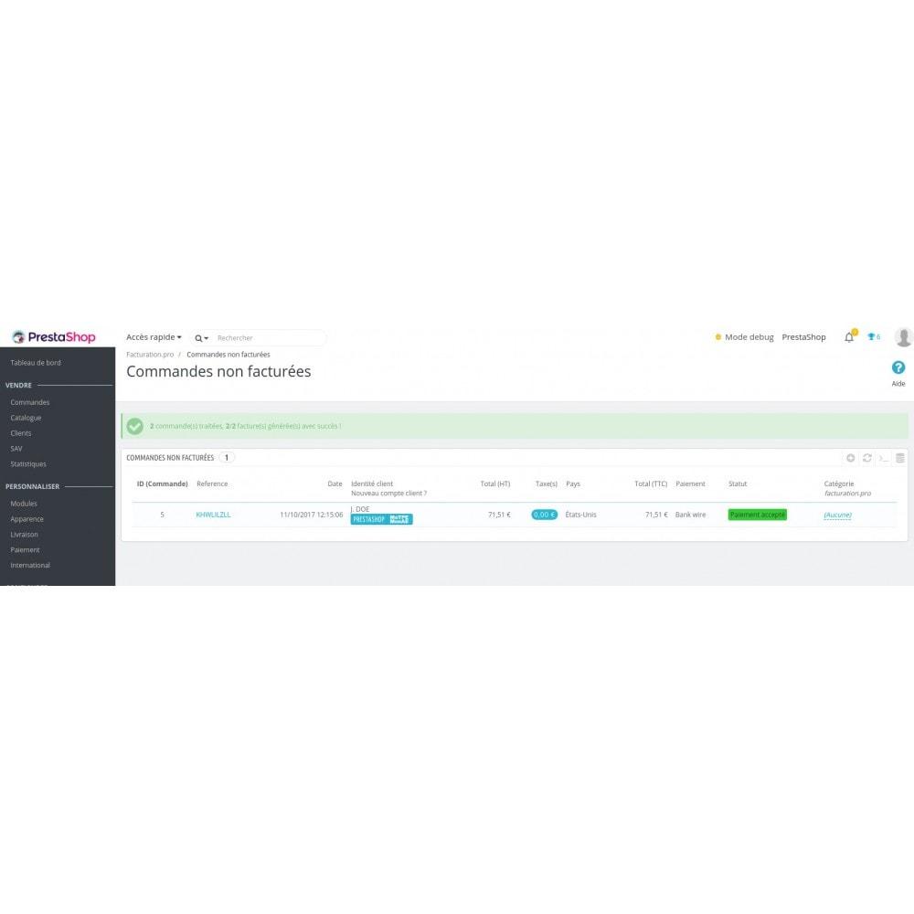 module - Connexion à un logiciel tiers (CRM, ERP...) - Facturation.pro (Mon AE, Ma TPE) Connecteur temps réel - 11