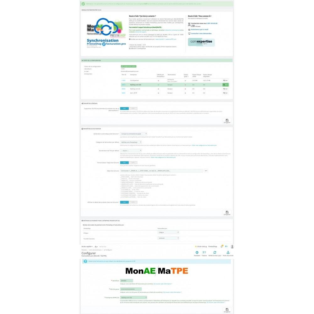 module - Connexion à un logiciel tiers (CRM, ERP...) - Facturation.pro (Mon AE, Ma TPE) Connecteur temps réel - 12