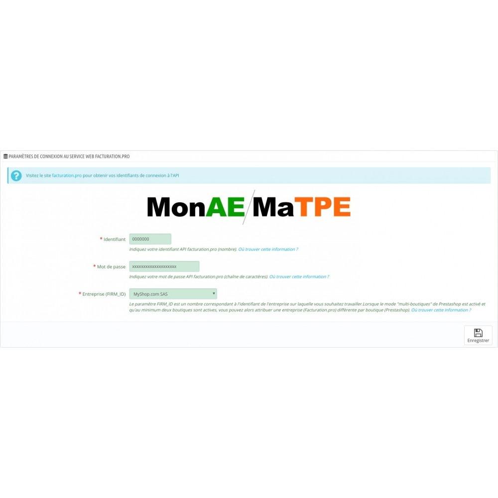 module - Connexion à un logiciel tiers (CRM, ERP...) - Facturation.pro (Mon AE, Ma TPE) Connecteur temps réel - 15