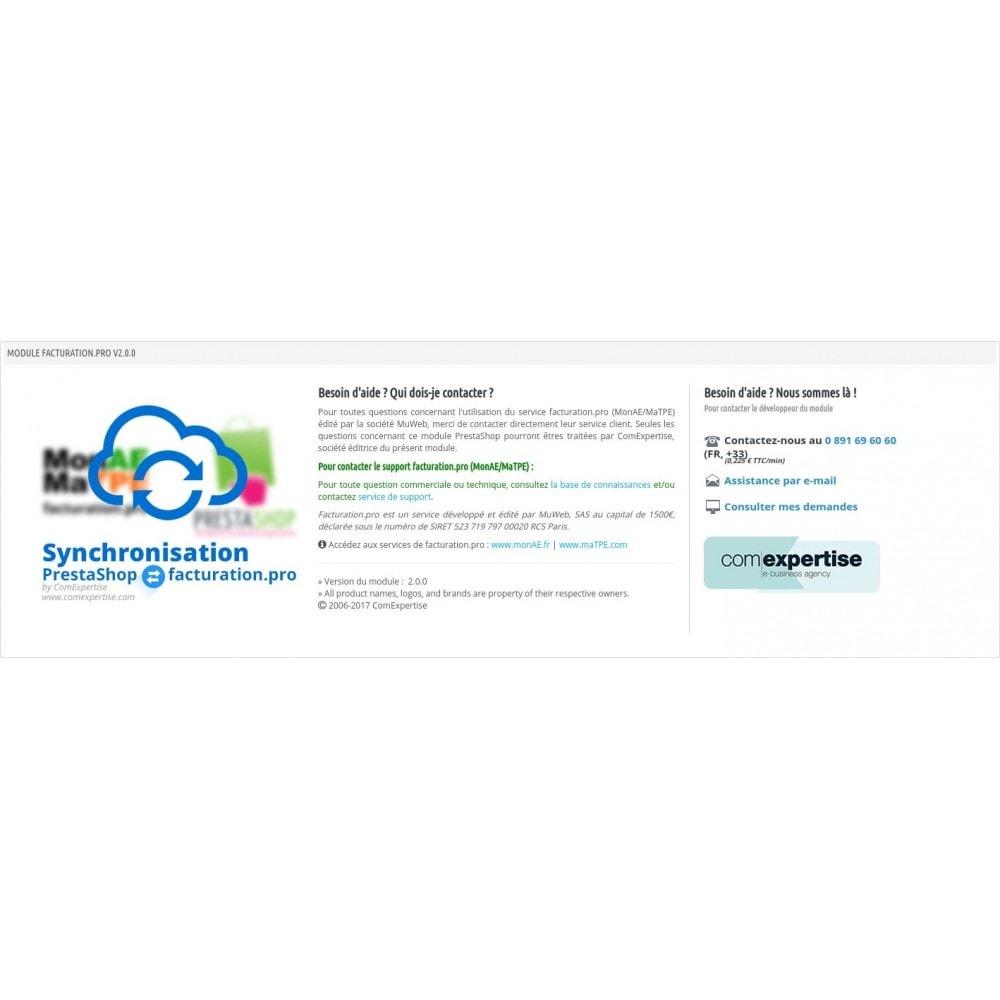 module - Connexion à un logiciel tiers (CRM, ERP...) - Facturation.pro (Mon AE, Ma TPE) Connecteur temps réel - 16