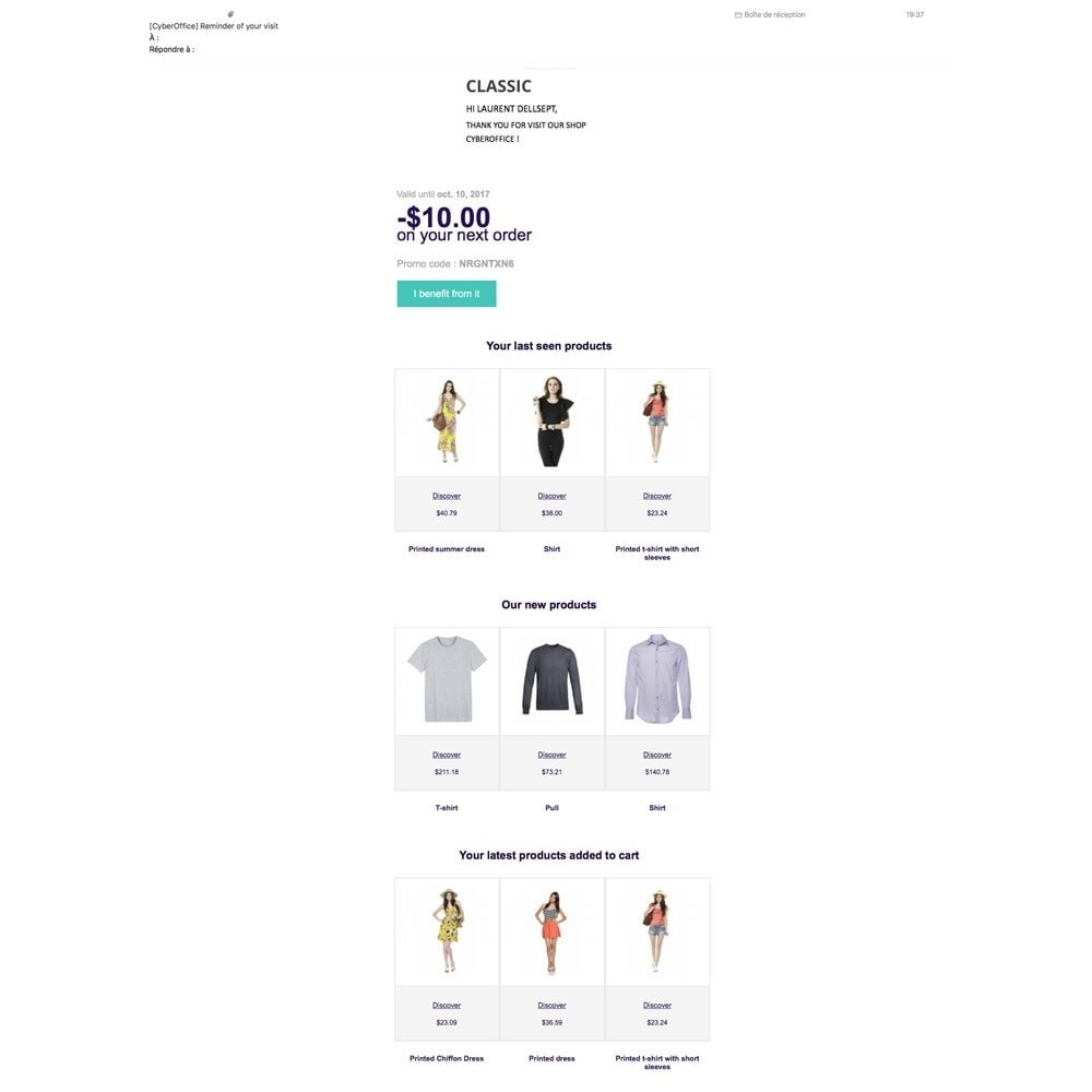 module - Remarketing & Shopping Cart Abandonment - EmailViewedProduct - 3