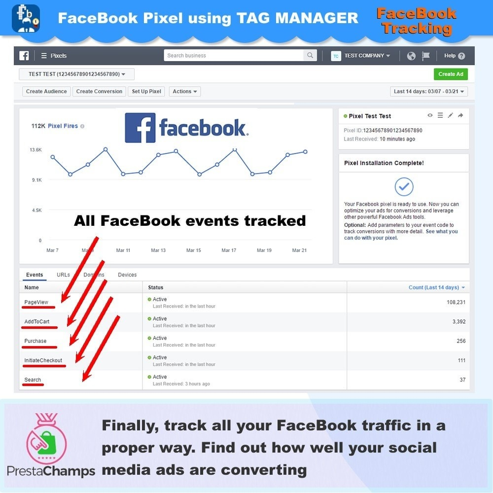 module - Remarketing & Shopping Cart Abandonment - Social Pixel Tracking Using Tag Manager - 3
