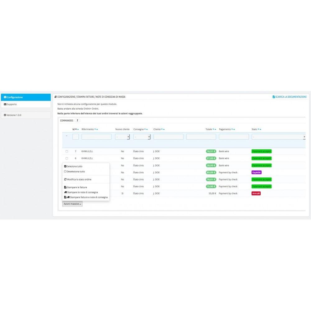 module - Contabilità & Fatturazione - Stampare le fatture e note di consegna in massa - 1