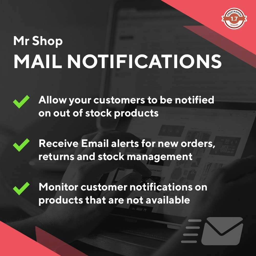 module - E-maile & Powiadomienia - Mr Shop Mail Notifications - 1
