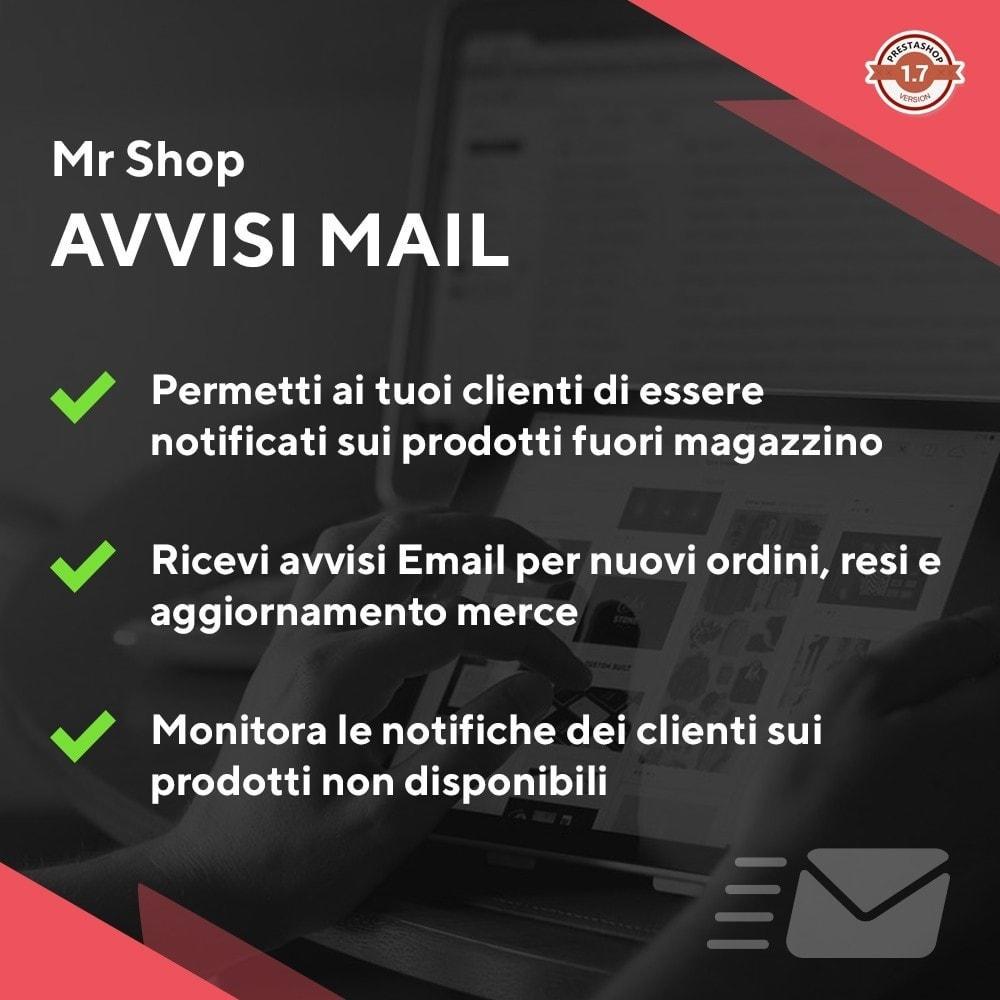 module - Email & Notifiche - Mr Shop Avvisi Mail - 1