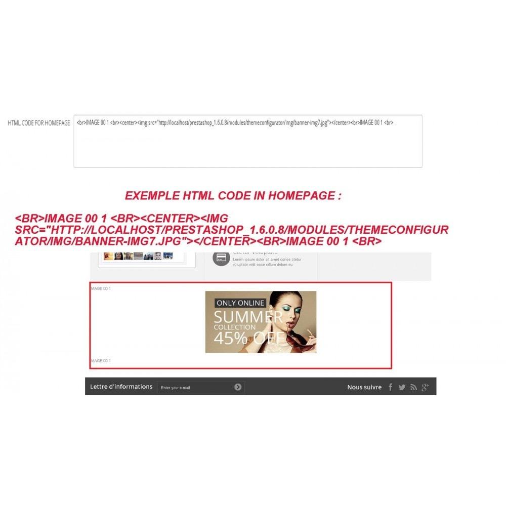 module - Personalização de página - INSERT HTML CODE - 2