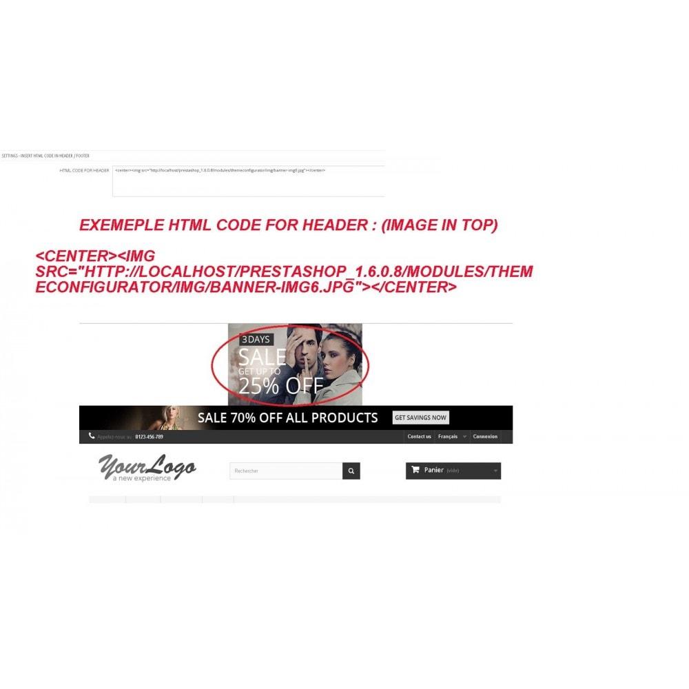 module - Personalização de página - INSERT HTML CODE - 4