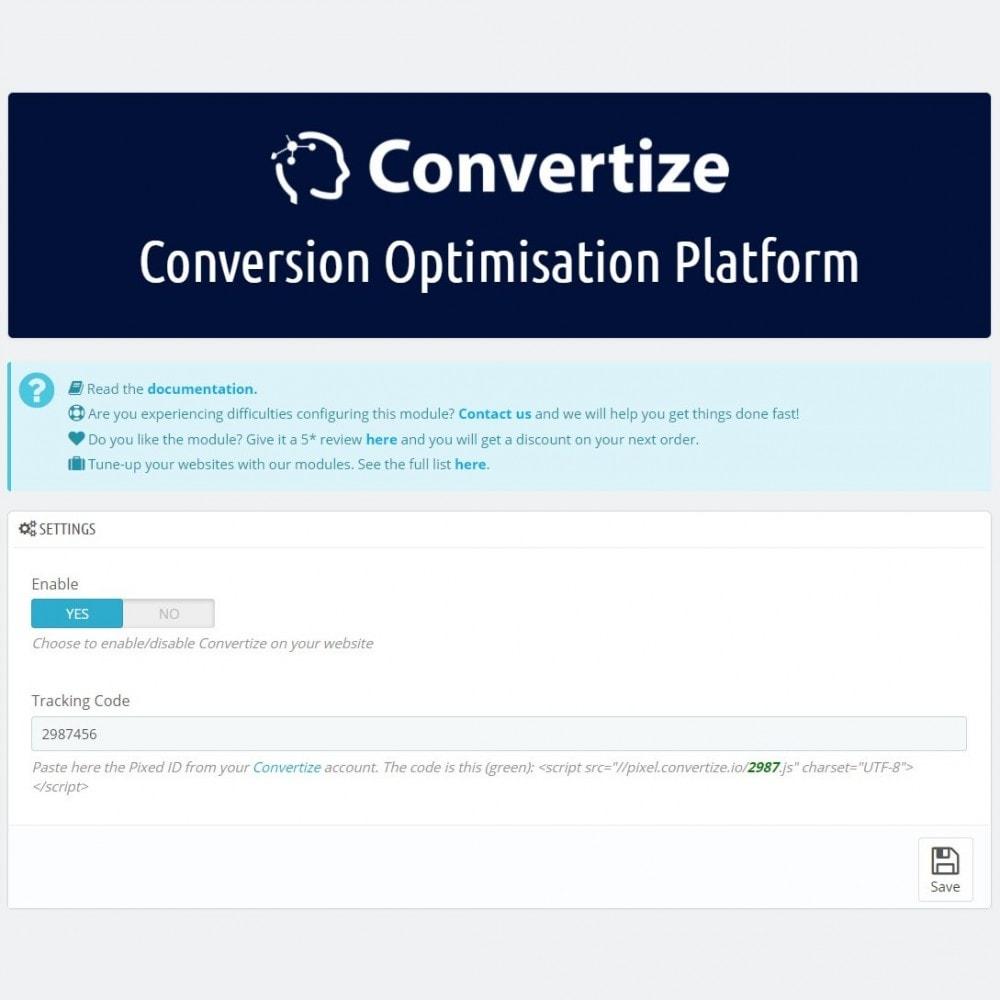 module - Análises & Estatísticas - Convertize.io - Conversion Optimisation Platform - 3
