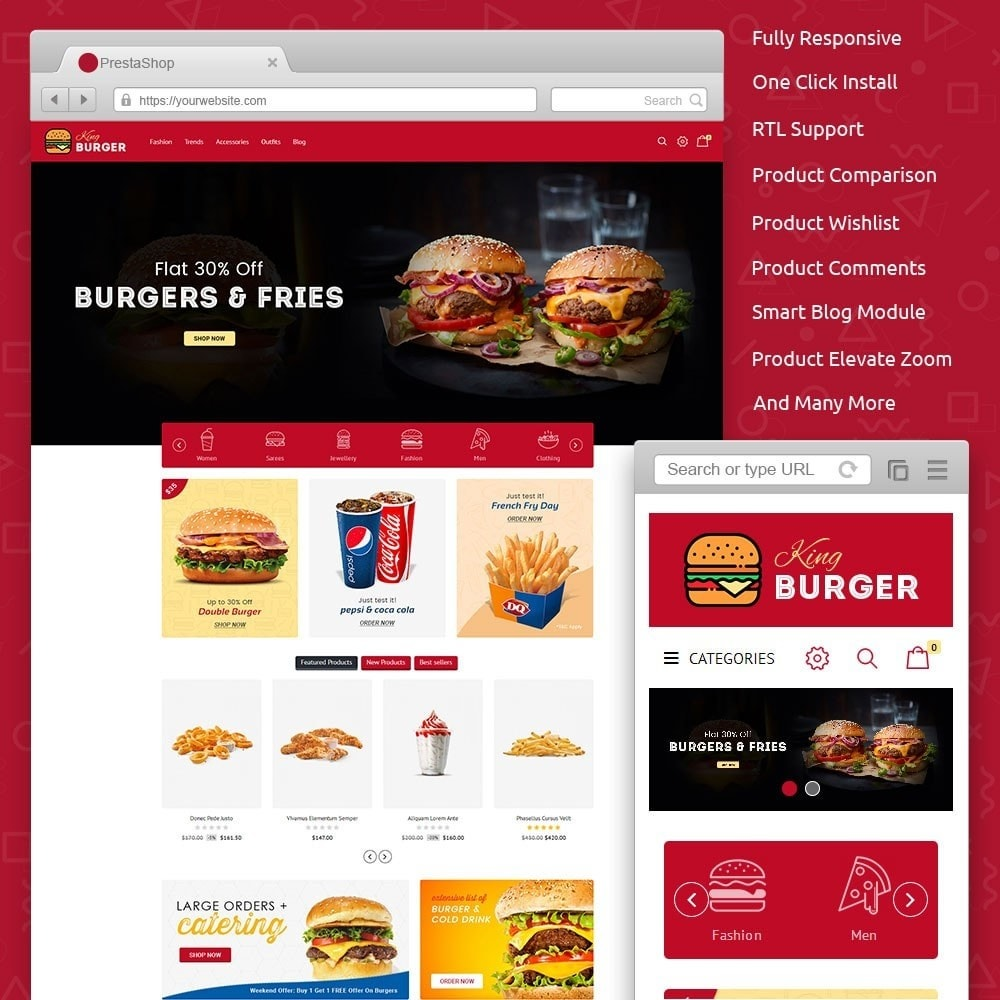 theme - Lebensmittel & Restaurants - King Burger Store - 1