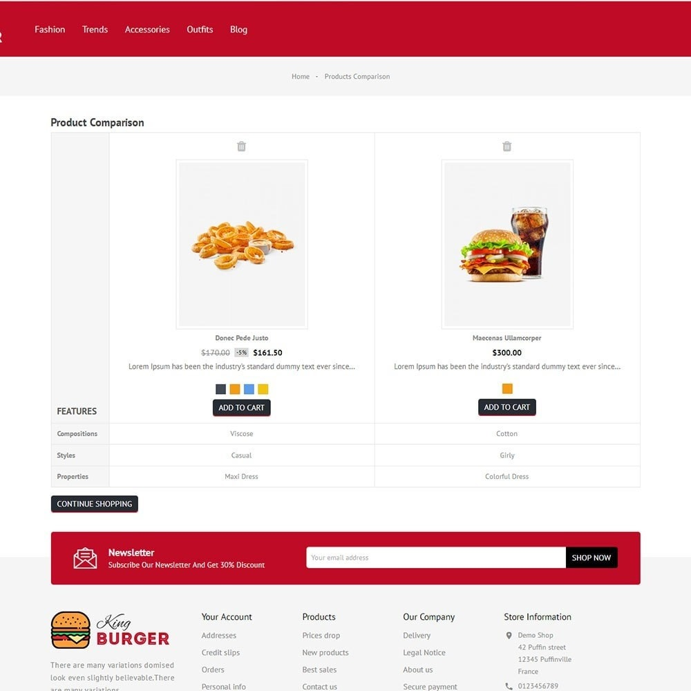 theme - Lebensmittel & Restaurants - King Burger Store - 7