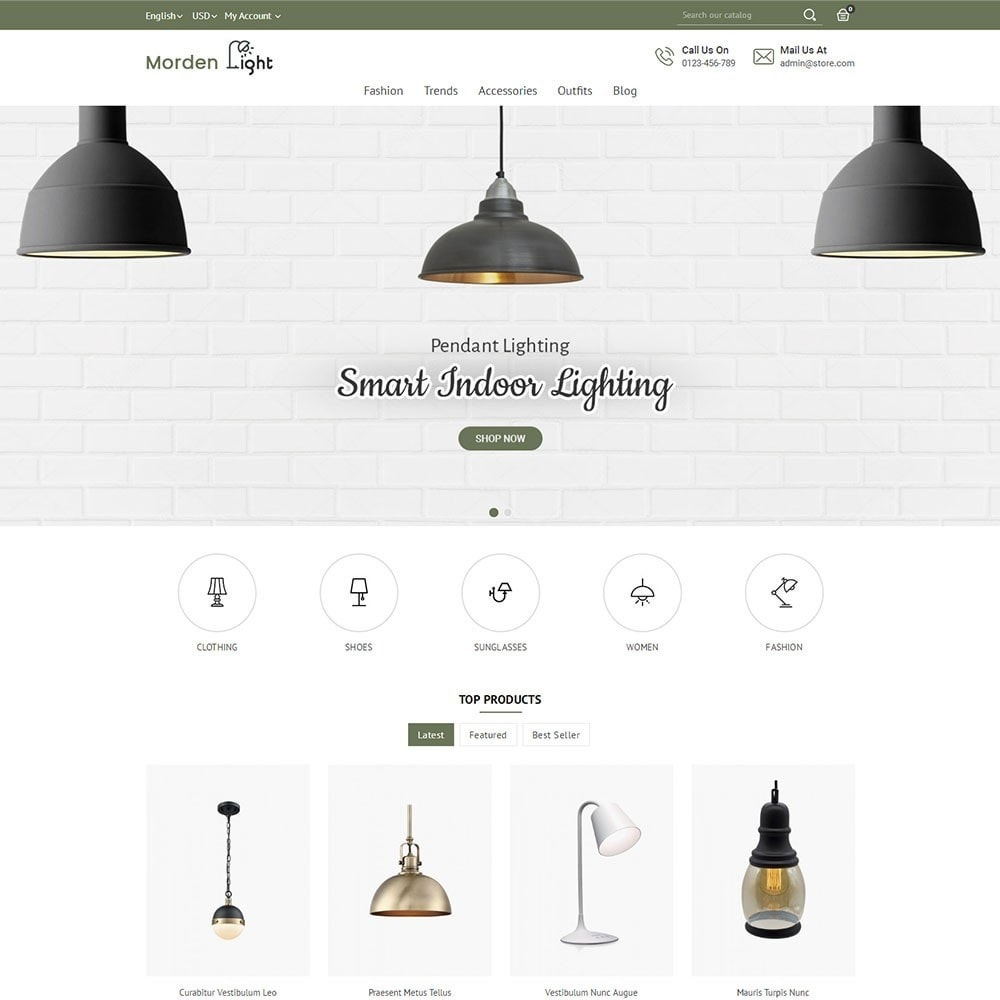 theme - Maison & Jardin - Morden Light Store - 2