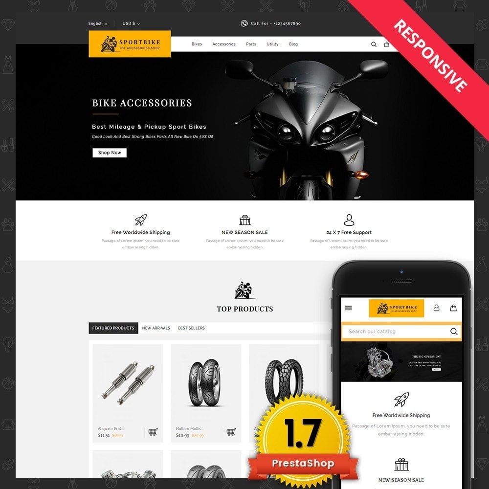 theme - Coches y Motos - Sports Bike Auto Store - 1