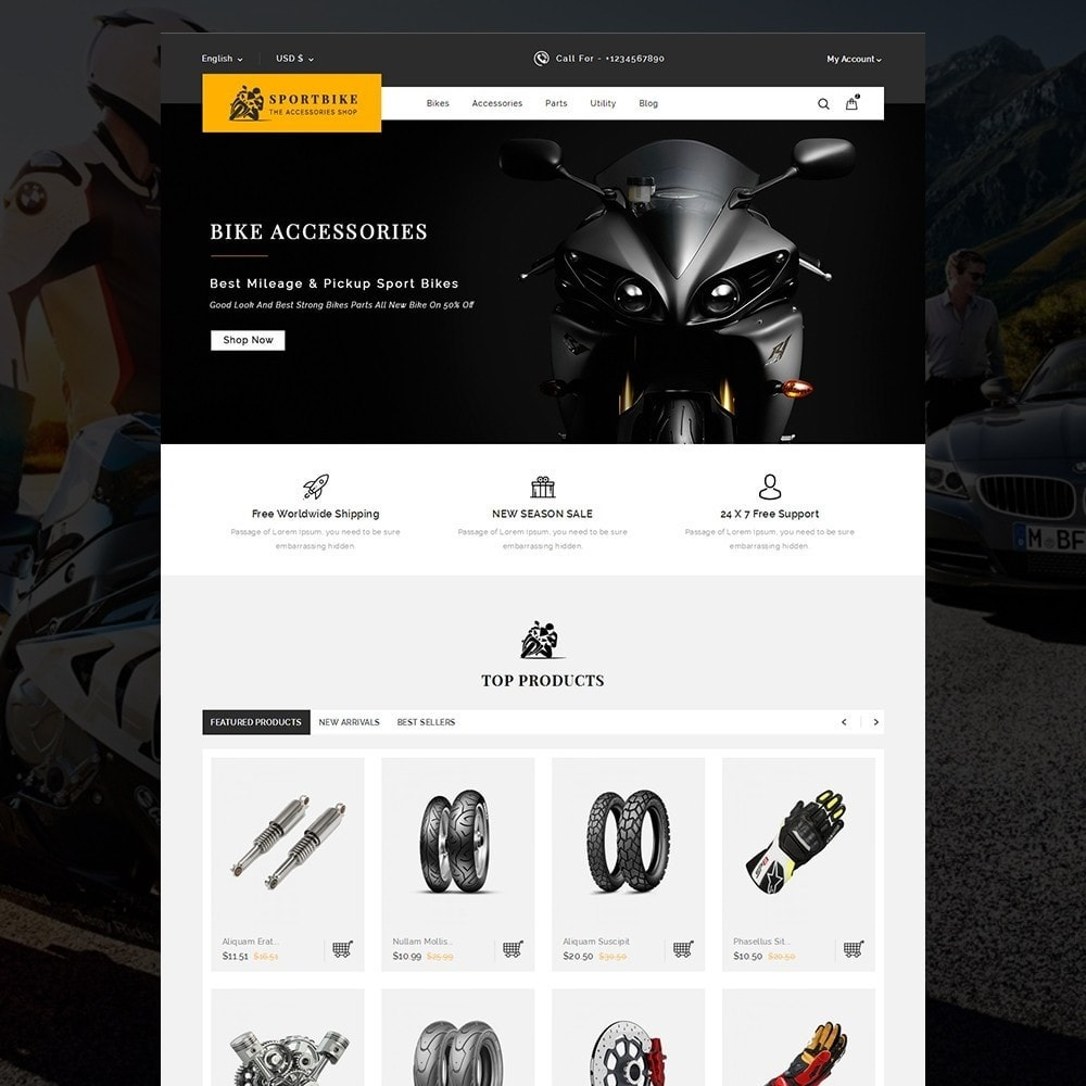 theme - Coches y Motos - Sports Bike Auto Store - 2