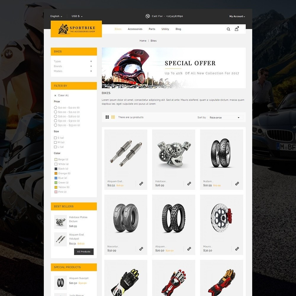 theme - Auto & Moto - Sports Bike Auto Store - 3