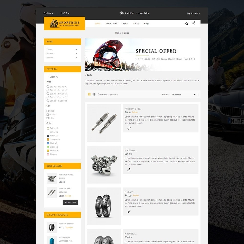 theme - Coches y Motos - Sports Bike Auto Store - 5