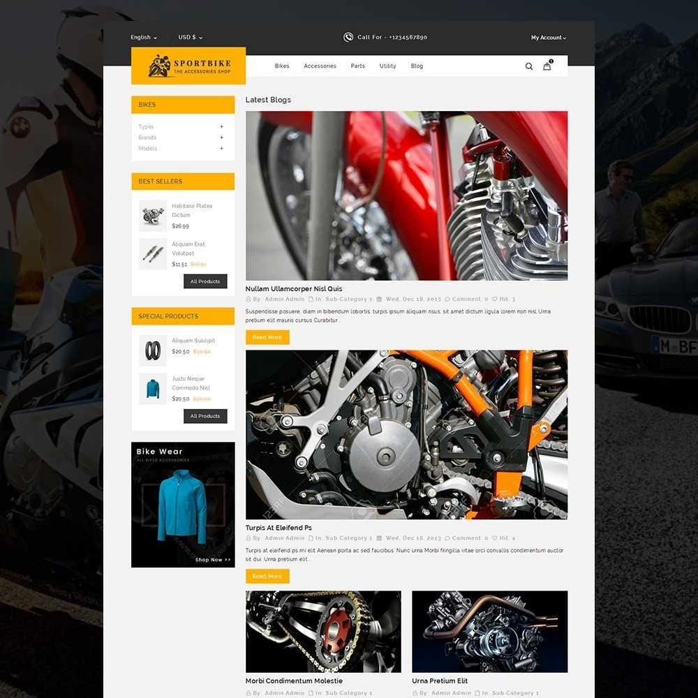 theme - Coches y Motos - Sports Bike Auto Store - 6