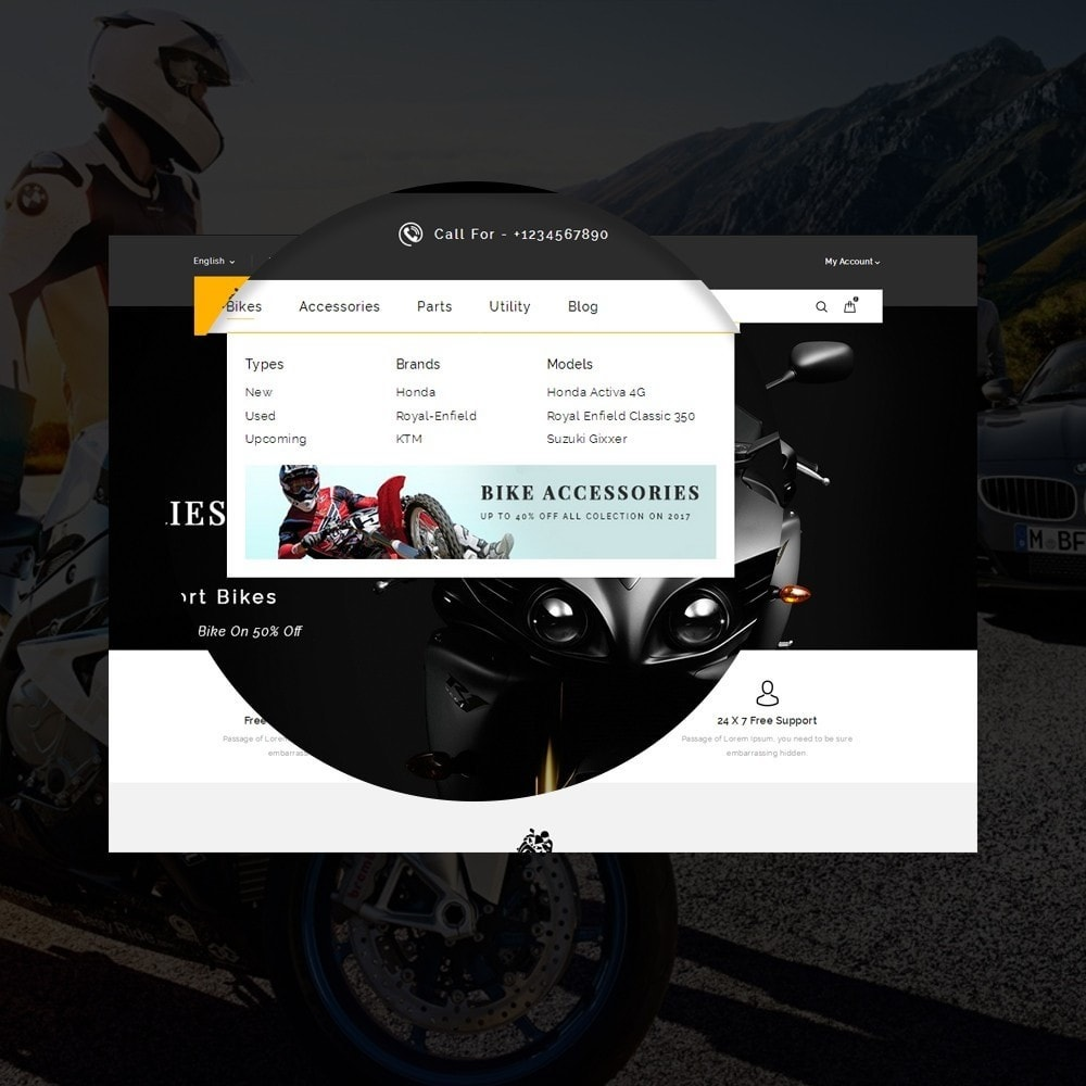 theme - Coches y Motos - Sports Bike Auto Store - 8