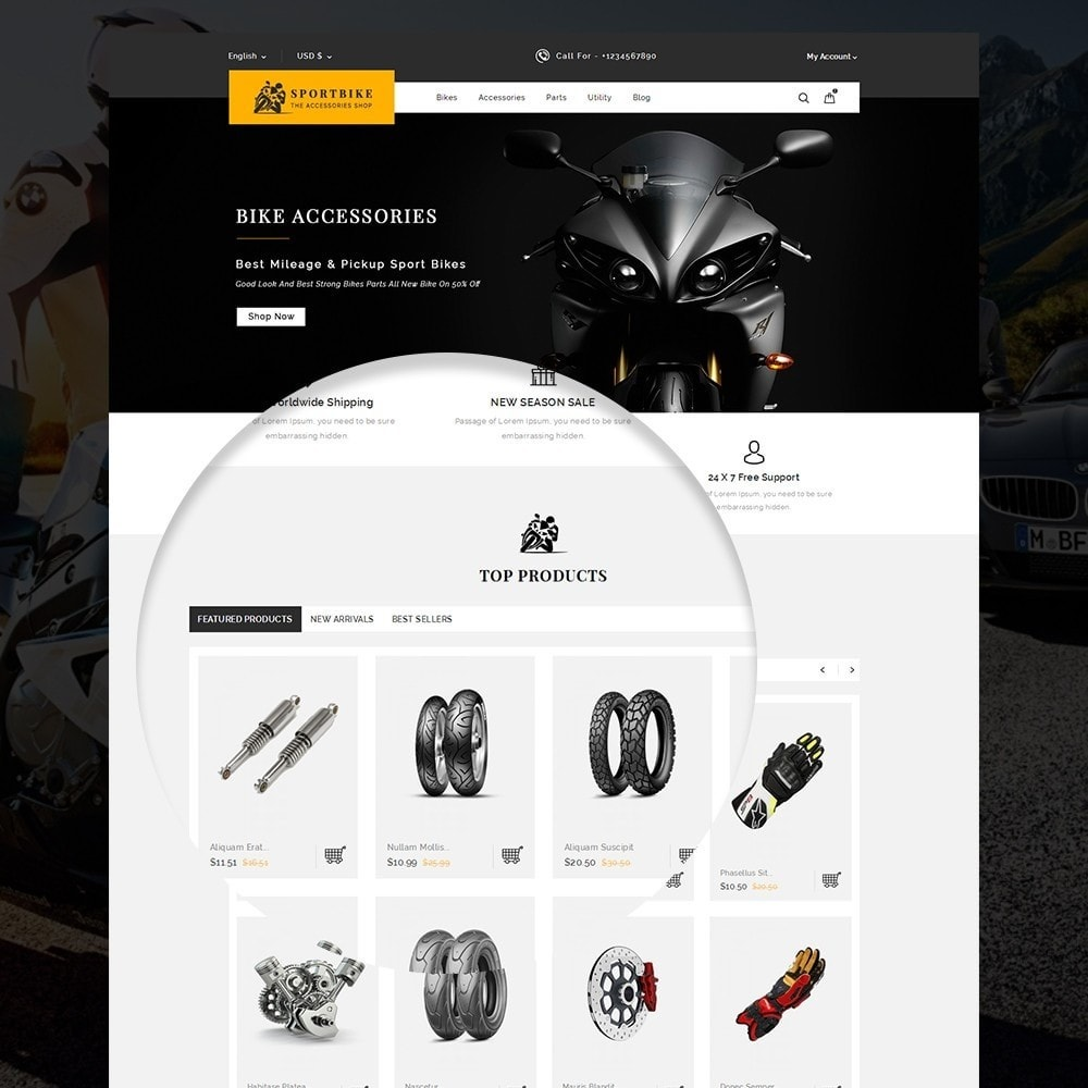 theme - Coches y Motos - Sports Bike Auto Store - 9