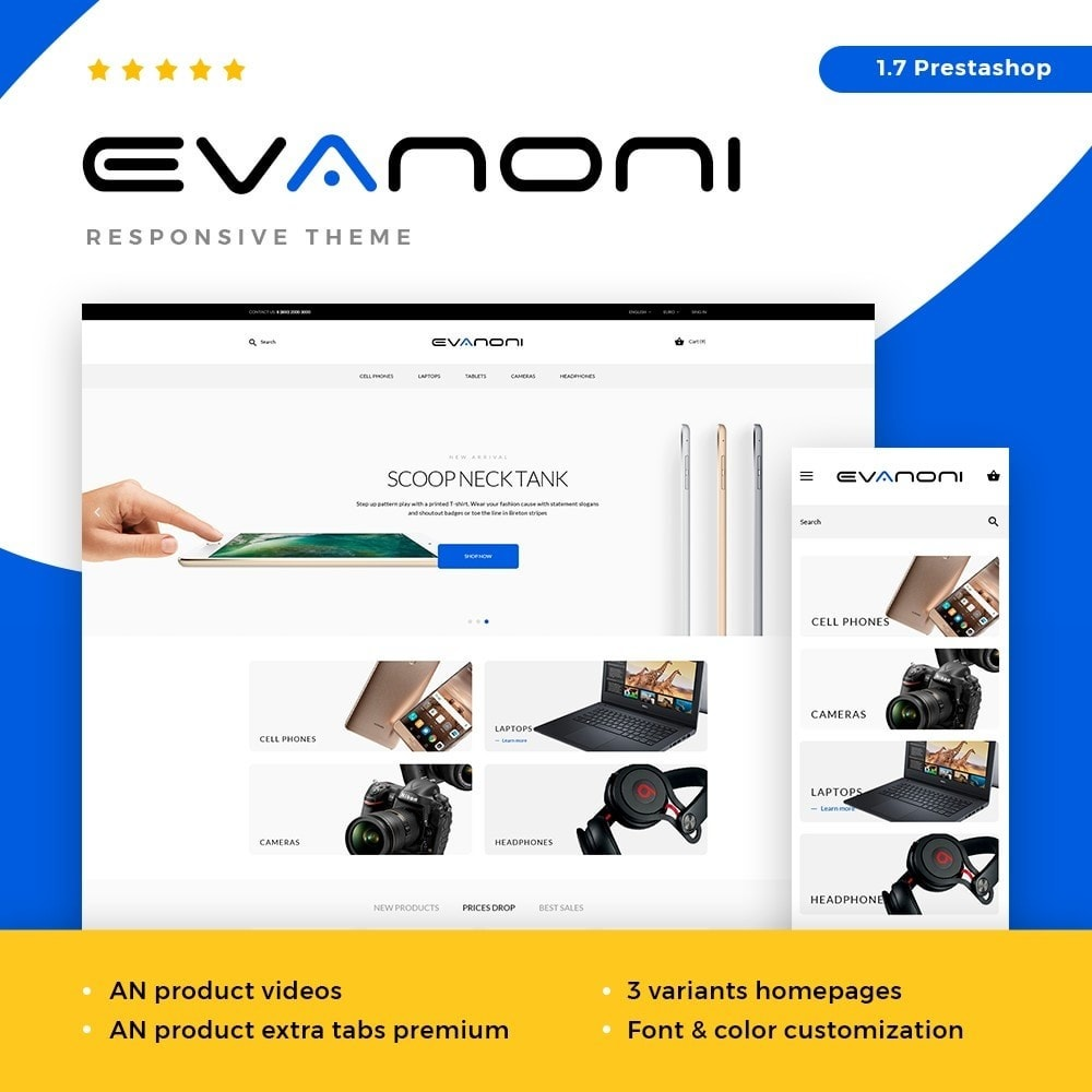 theme - Elektronika & High Tech - Evanoni - High-tech Shop - 1