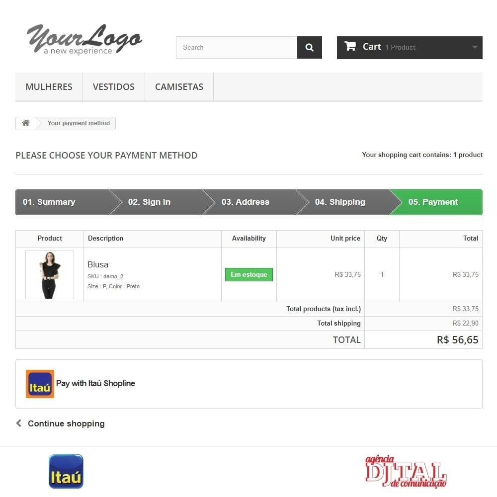 module - Оплата банковской картой или с помощью электронного кошелька - Payment by Itau Shopline - 3
