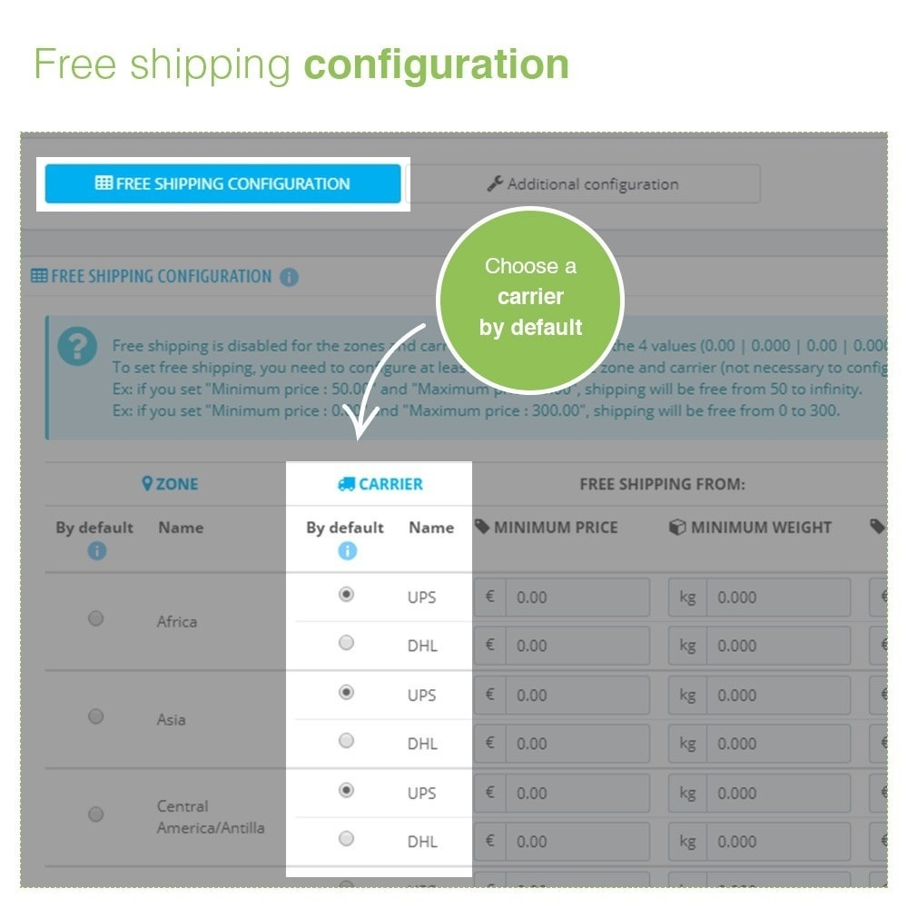 module - Shipping Costs - Free Shipping by Zone, Carrier, Price and Weight - 4