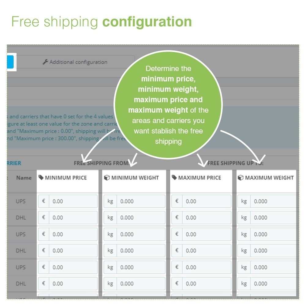 module - Shipping Costs - Free Shipping by Zone, Carrier, Price and Weight - 5