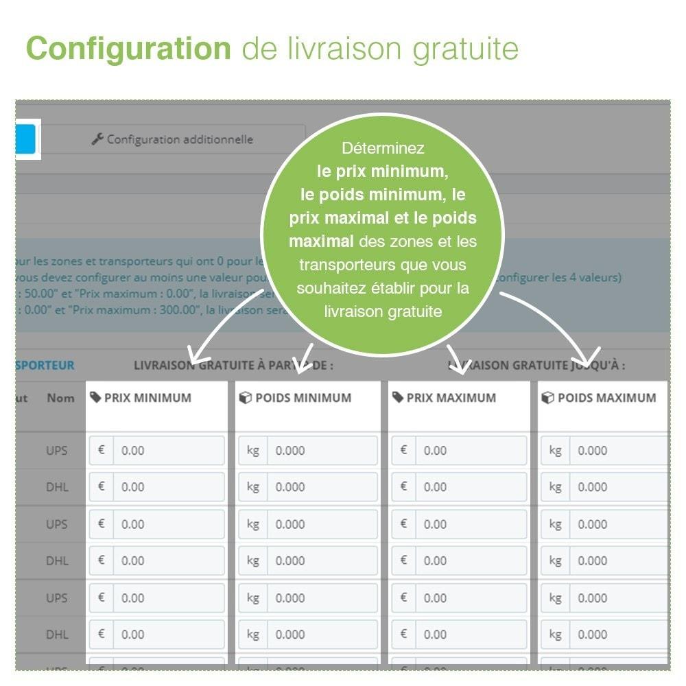 module - Frais de port - Livraison Gratuite par Zone/Transporteur- Frais de Port - 4