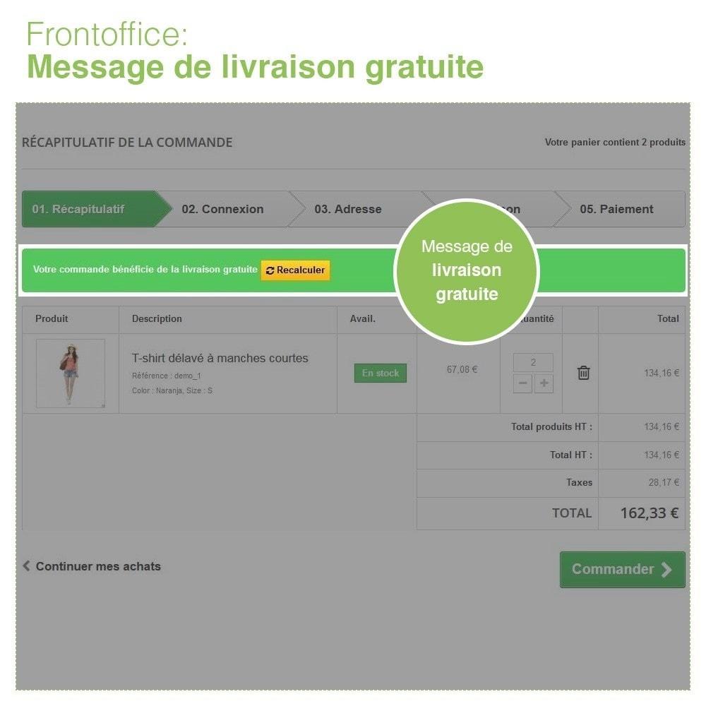 module - Frais de port - Livraison Gratuite par Zone/Transporteur- Frais de Port - 7