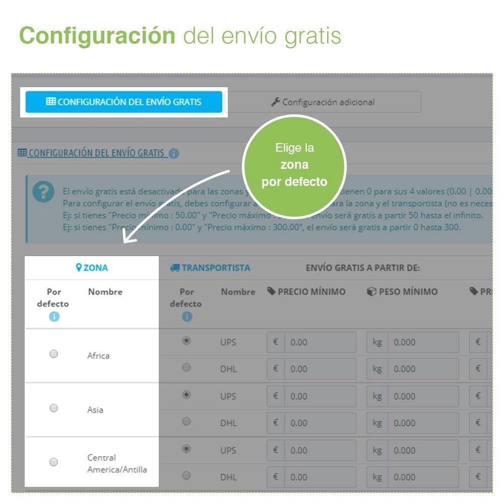 module - Gastos de transporte - Envío Gratis por Zona, Transportista, Peso y Precio - 3