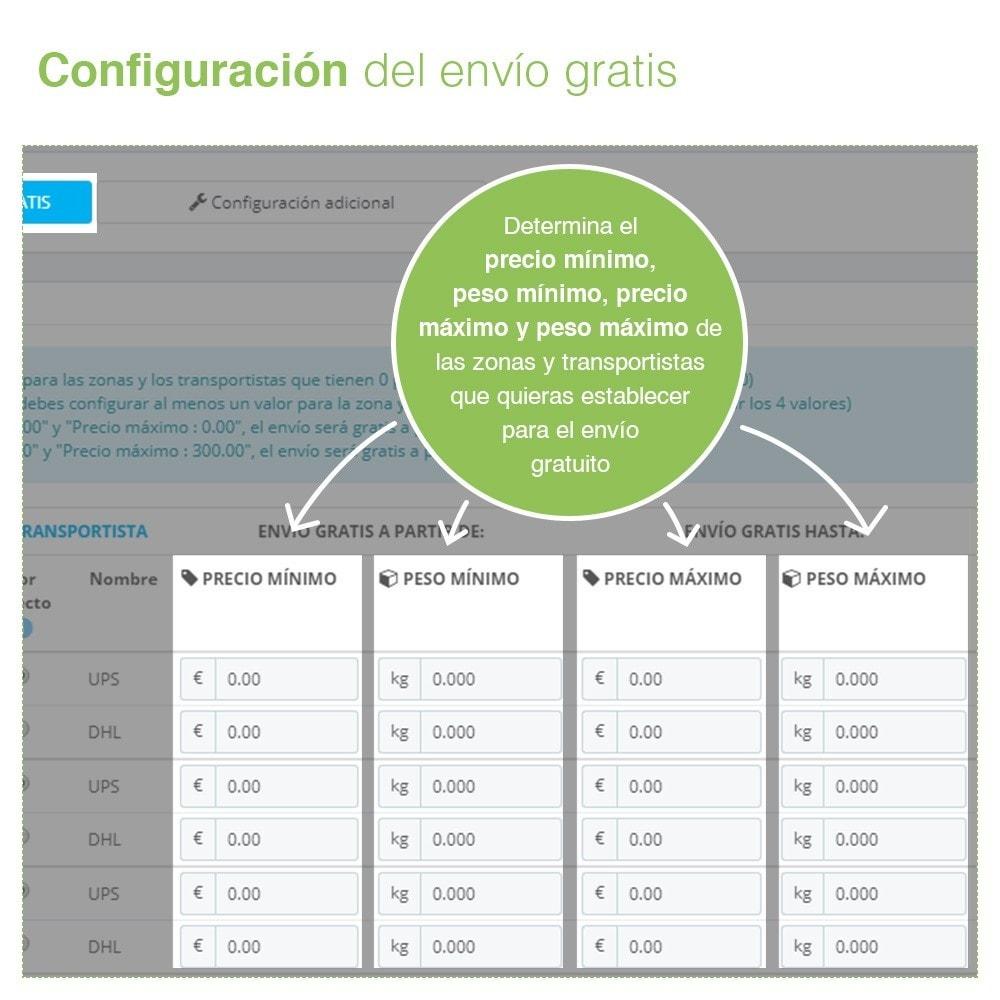 module - Gastos de transporte - Envío Gratis por Zona, Transportista, Peso y Precio - 5