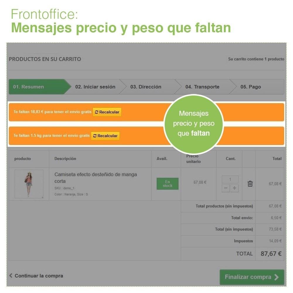 module - Gastos de transporte - Envío Gratis por Zona, Transportista, Peso y Precio - 7
