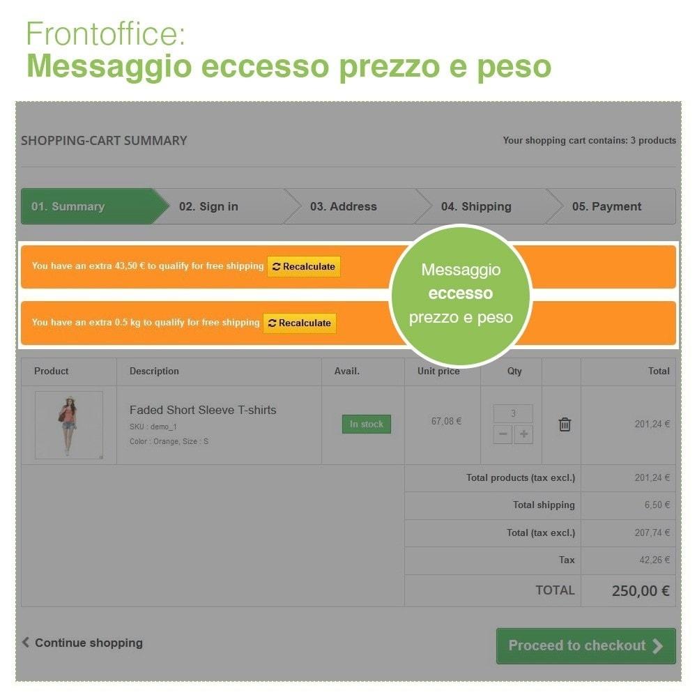 module - Spese di Spedizione - Invio Gratuito per Zona, Corriere, Peso e Prezzo - 9