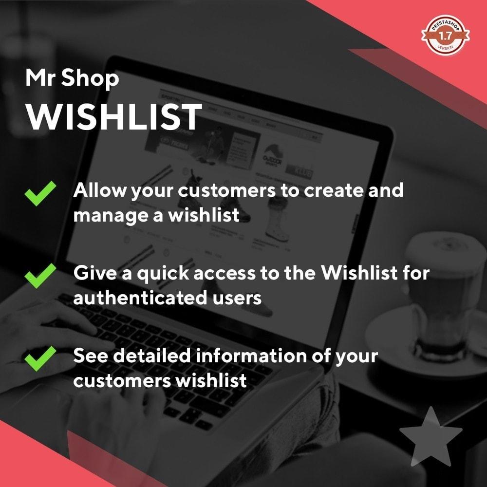 module - Lista de desejos & Vale-presente - Mr Shop Wishlist - 1