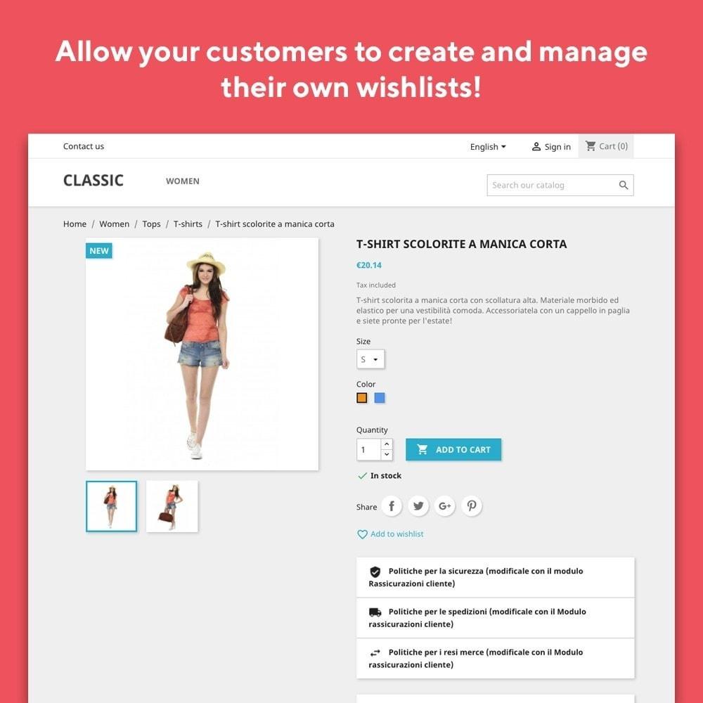 module - Liste de souhaits & Carte cadeau - Mr Shop Wishlist - 2