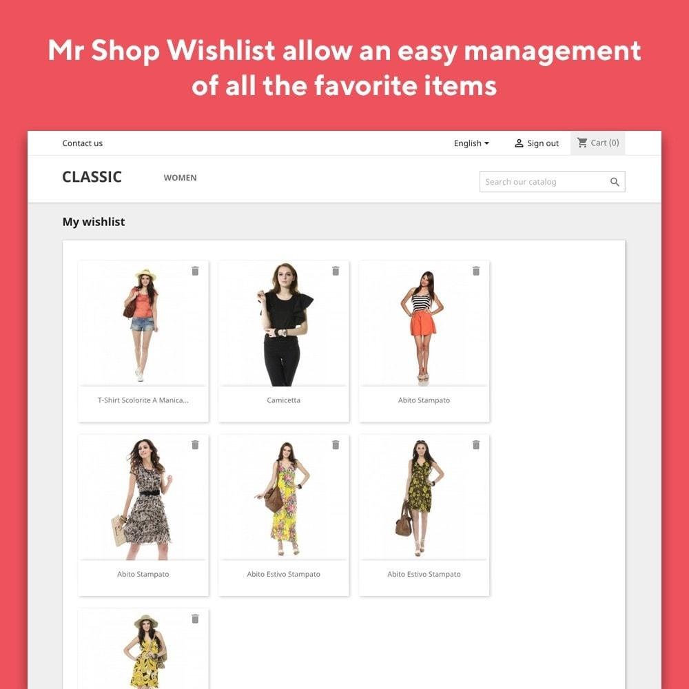 module - Liste de souhaits & Carte cadeau - Mr Shop Wishlist - 4