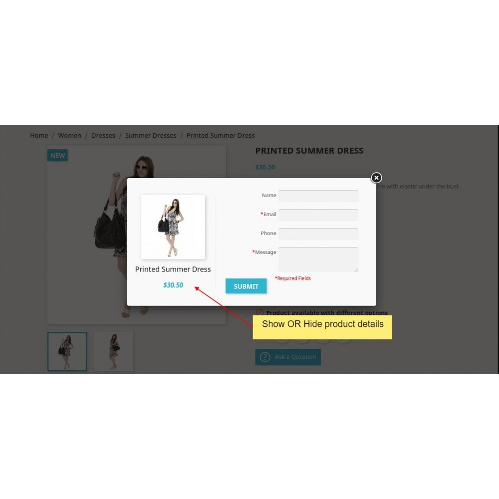 module - Contact Forms & Surveys - Product Inquiry, Product Quotation - 5