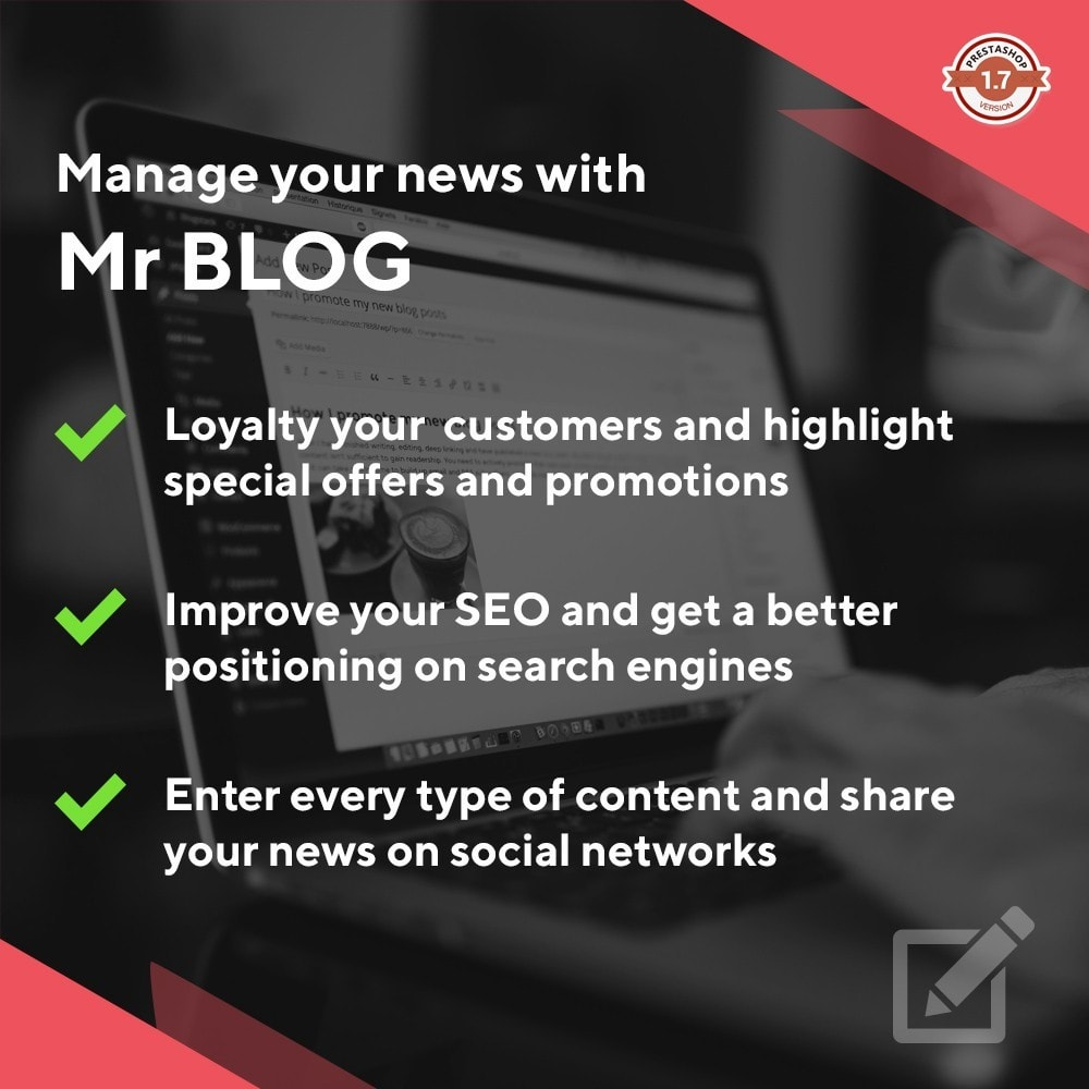 module - Blog, Forum & Actualités - Mr Blog - 1