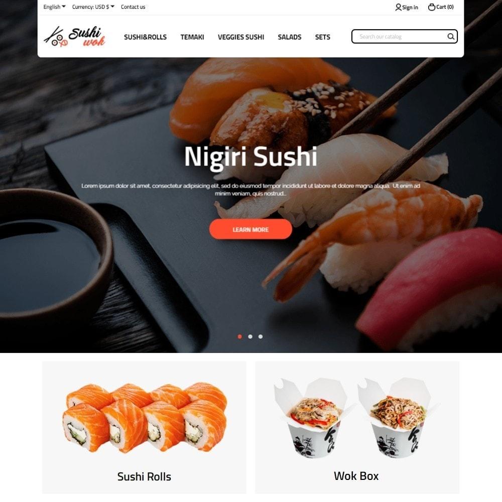 theme - Alimentos & Restaurantes - Sushi Wok - 2