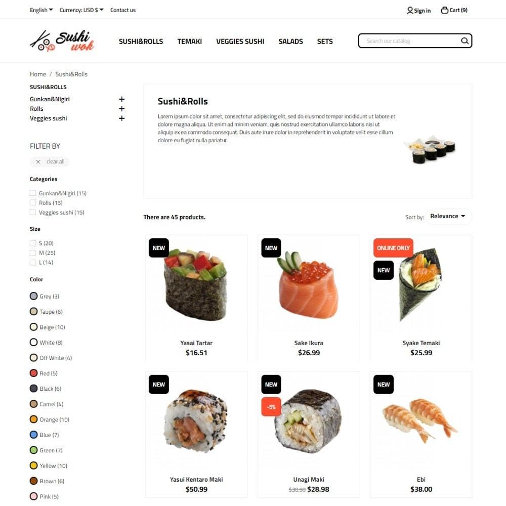 theme - Alimentos & Restaurantes - Sushi Wok - 5