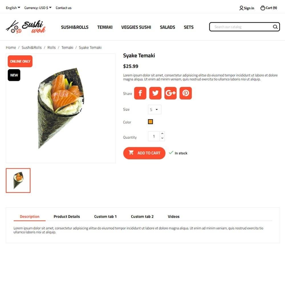theme - Gastronomía y Restauración - Sushi Wok - 6
